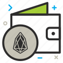 bag, charity, crypto, currency, eos, eoscoin, hand, money, wallet icon