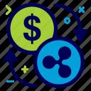 convert, crypto, currency, dollar, money, ripple, ripplecoin