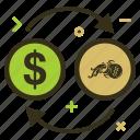 aquarius, aquariuscoin, convert, crypto, currency, dollar, money icon