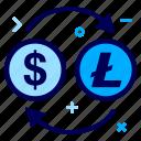 convert, crypto, currency, dollar, lite, litecoin, money