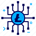connect, crypto, currency, lite, litecoin, money, network icon