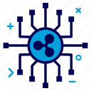 connect, crypto, currency, money, network, ripple, ripplecoin icon