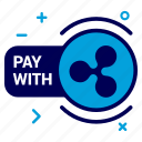 crypto, currency, money, pay, ripple, ripplecoin, with icon