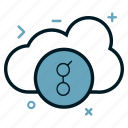 cloud, coin, crypto, cryptocurrency, currency, golem, money, virtual icon