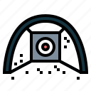 driving, golf, net, target icon