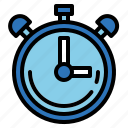 chronometer, stop, timer, watch icon