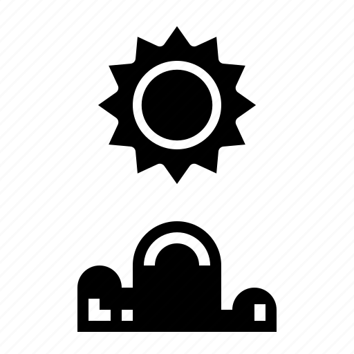 cloud, cloudy, sun, sunshine icon