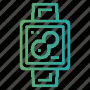 map, smart, technology, watch icon