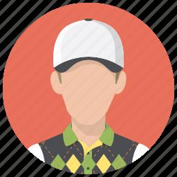 avatar, golf, person, playerman, sportsman icon