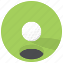 game, golf, golf ball, golf course, hole, play, sport icon