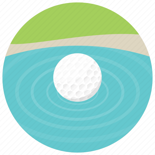 ball, golf, golf ball, water icon