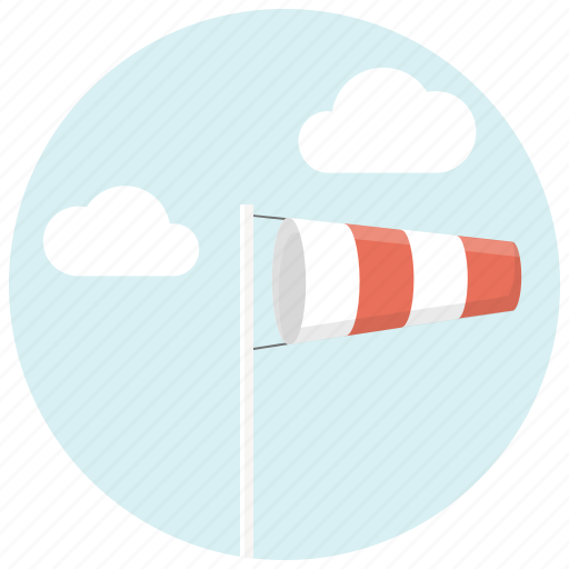 clouds, flag, sky, wind icon
