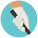 golf, golf glove, hand, play golf icon