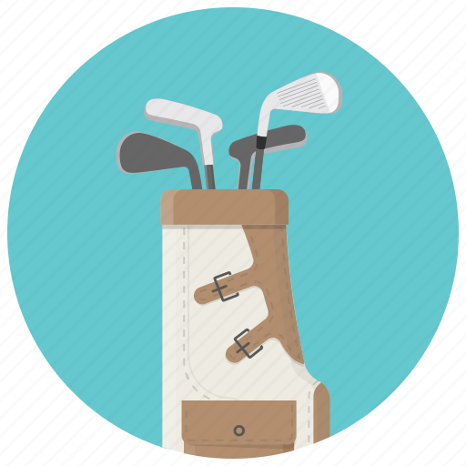 golf, golf bag, golf putters, sport, sports equipment icon