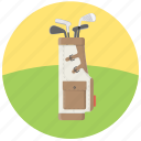 golf, golf bag, golf equipment, golf putters icon