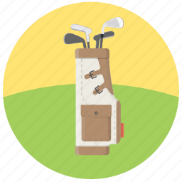 golf, golf bag, golf equipment, golf putters icon