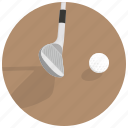 game, golf, golf putter, hit ball, play golf icon