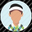 avatar, golf, golfer, man, person, sport, sportsman icon