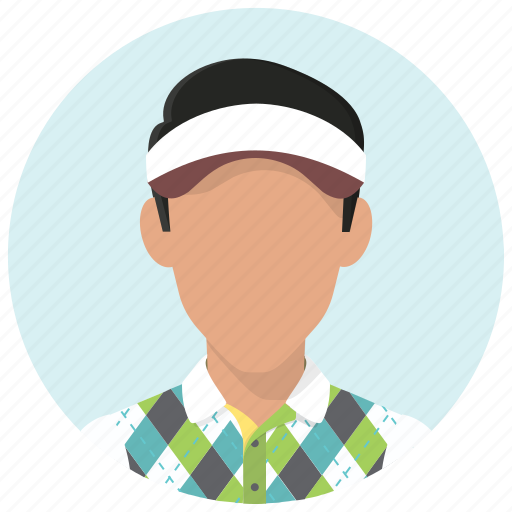 avatar, golf, golfer, man, person, sport, sportsman icon