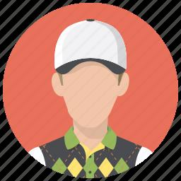 avatar, golf, golf player, man, person, sportsman icon