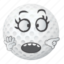 ball, golf, smiley, face, cartoon, emoji