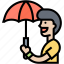 rain, covering, outdoor, umbrella, protection icon