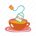 bag, hot, drink, cup, cute, tea icon