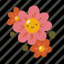 happy, nature, flower, eco, plant, cute