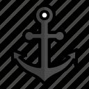 anchor, boat, ocean, sea, ship