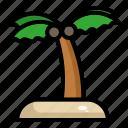 beach, coconut, plant, summer, tree, vacation