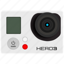 camera, go pro, gopro, hero, photo, photography, video icon