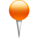 location, orange, pin icon