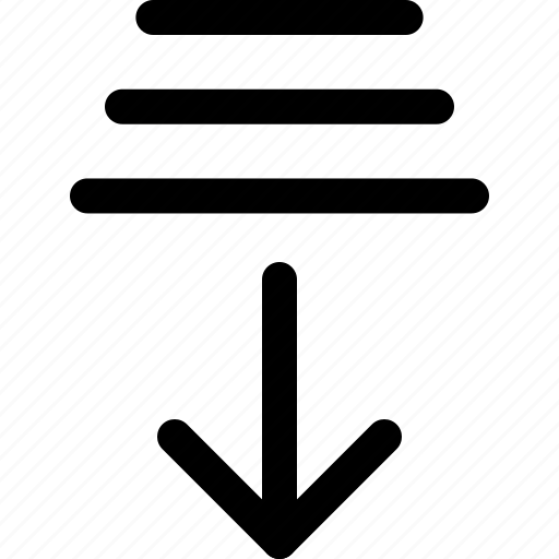 arrow, bottom, bottom layer, directions, interface icon