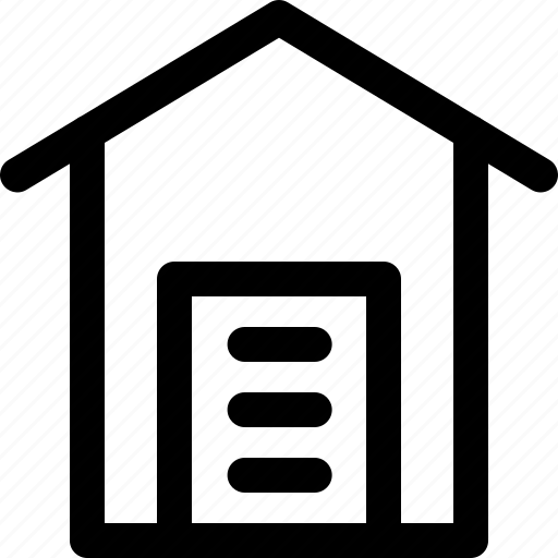 building, garage, garage house, home, house icon
