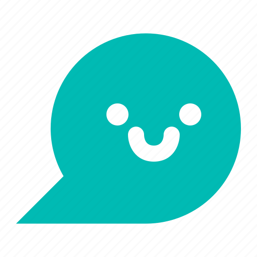 chat, communication, message, smile icon