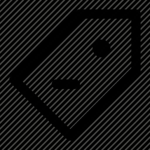 ecommerce, price, price tag, remove icon