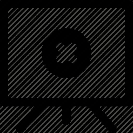 board, delete, finance, presentation icon