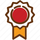 award, brown, certificate, graduated, red, yellow icon