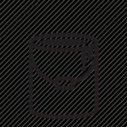 bucket, graffiti, paint brush, painting icon