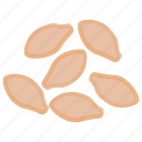 dried food, fruit, healthy food, nutritionist food, peanuts icon