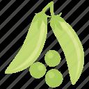 green peas, healthy food, nutrients, peas, vegetable icon