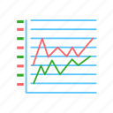 stacked, graph, line icon