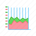 chart, bar, area, stacked icon