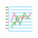 chart, graph, line, marketed icon