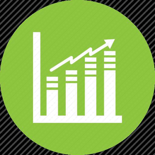 exchange, growth, statistics icon