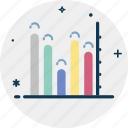 bar chart, bar graph, business chart, infographics, progress chart, statistics icon