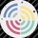 business graphic, combination chart, combo circle line chart, data visualization, jquery circle progress icon