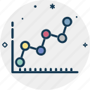 business analytics, growth chart, line graph, statistical infographic, statistics, trending chart icon
