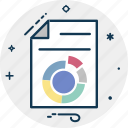 analytics, business report, donut graph, graph report, report, statistics icon