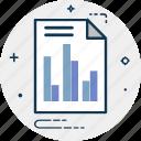 analytics, bar graph, business report, graph report, line graph, report, statistics icon